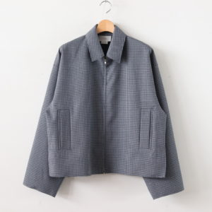 YOKE | ヨーク [ FIVE COLORS PLAID WOOL CUT-OFF DRIZZLER JACKET #GREY PLAID [YK19AW0054B] ]