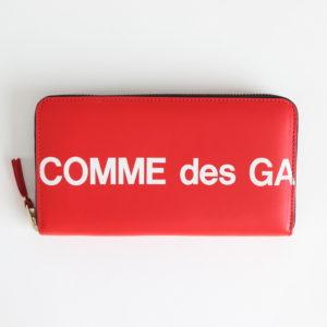 Wallet COMME des GARCONS | ウォレット コム デ ギャルソン [ 二つ折りZIP長財布 SA0111HL #HUGE LOGO/RED [8Z-T101-051] ]