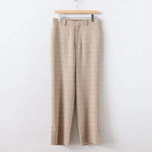 AURALEE | オーラリー [ HARD TWIST WOOL DOUBLE FACE CHECK SLACKS #BEIGE CHECK [A20SP02WC] ]