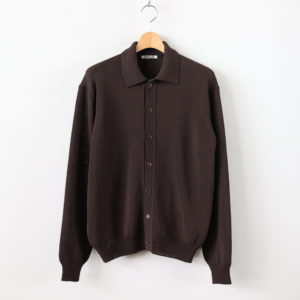 AURALEE | オーラリー [ COTTON POLYESTER CODE KNIT CARDIGAN #BROWN [A20SS01PC] ]
