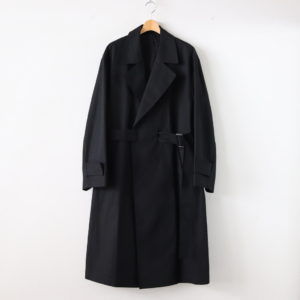 stein | シュタイン [ OVERSIZED LESS COAT #BLACK [ST.124] ]