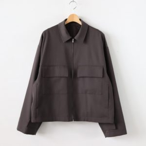 stein | シュタイン [ OVER SLEEVE ZIP JACKET #BROWN [ST.135-1] ]