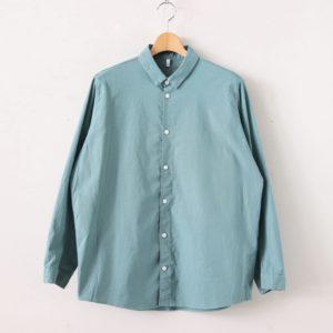 FIRMUM | フィルマム [ FCVSH|ラフコットンシーチング スモールカラーワイドシャツ #MALACHITE GREEN [S0-FR011SF] ]