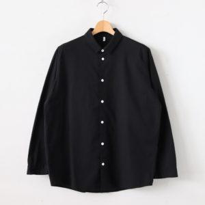 FIRMUM | フィルマム [ FCVSH|ラフコットンシーチング スモールカラーワイドシャツ #BLACK [S0-FR011SF] ]