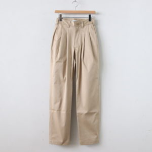 LENO | リノ [ 2 TUCK TROUSERS #BEIGE [L2001-PT002] ]