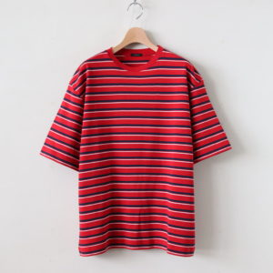 LENO | リノ [ MULTI BORDER BIG T-SHIRT #RED BORDER [H2001-CS004] ]