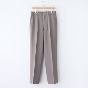 AURALEE | オーラリー [ WOOL MAX GABARDINE SLACKS #GRAY BEIGE [A20AP02MG] ]