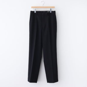 AURALEE | オーラリー [ WOOL MAX GABARDINE SLACKS #BLACK [A20AP02MG] ]