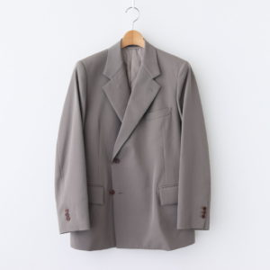AURALEE | オーラリー [ WOOL MAX GABARDINE DOUBLE-BREASTED JACKET #GRAY BEIGE [A20AJ01MG] ]