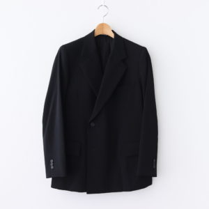 AURALEE | オーラリー [ WOOL MAX GABARDINE DOUBLE-BREASTED JACKET #BLACK [A20AJ01MG] ]