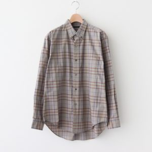 LENO | リノ [ BUTTON-DOWN SHIRT #PURPLE CHECK [H2002-SH001] ]