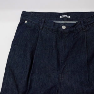 NEW ARRIVAL|AURALEE / HARD TWIST DENIM WIDE SLACKS & HARD TWIST DENIM 5P PANTS