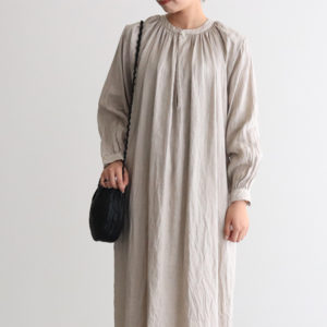 PICK UP|YAECA / GATHER BLOUSE LONG [90740]