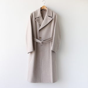LIGHT MELTON DOUBLE-BREASTED COAT #TOP BEIGE [A20AC01LM]