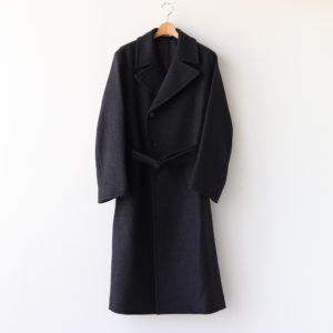 LIGHT MELTON DOUBLE-BREASTED COAT #TOP CHARCOAL [A20AC01LM]