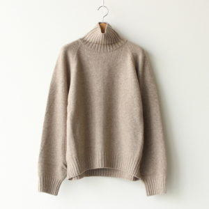 stein | シュタイン [ EX FINE LAMBS LOOSE HIGH NECK KNIT LS #BEIGE [ST.192] ]