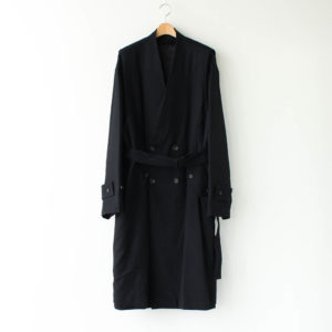 stein | シュタイン [ OVERSIZED LINEAR NO COLLAR COAT #BLACK [ST.173-1] ]
