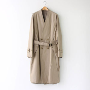 stein | シュタイン [ OVERSIZED LINEAR NO COLLAR COAT #BEIGE [ST.173-2] ]