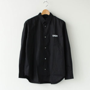 COMME des GARCONS HOMME | コム デ ギャルソン オム [ 綿ブロード 製品プリント L/Sシャツ #BLACK×WHITE [HF-B015-051] ]