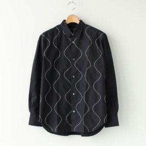 COMME des GARCONS HOMME | コム デ ギャルソン オム [ 綿ブロード 太番手ステッチ加工 L/Sシャツ #BLACK [HF-B016-051] ]
