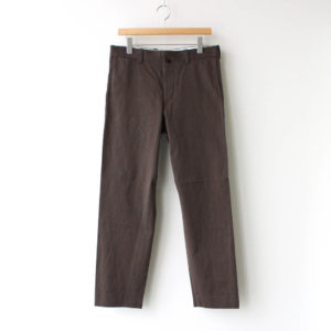 YAECA | ヤエカ [ CHINO CLOTH PANTS STANDARD #BROWN [10654] ]