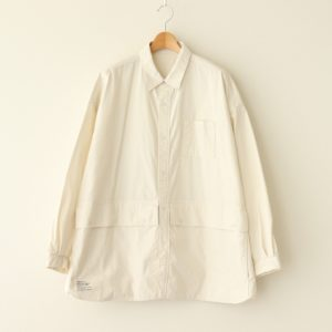 FreshService | フレッシュサービス [ CARGO POCKET REGULAR COLLAR UTILITY SHIRT #IVORY [FSW-20-SH_01] ]