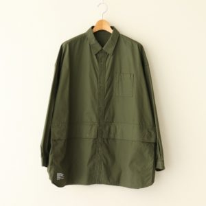 FreshService | フレッシュサービス [ CARGO POCKET REGULAR COLLAR UTILITY SHIRT #KHAKI [FSW-20-SH_01] ]