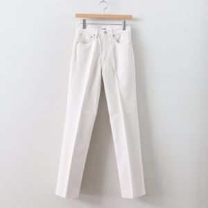 AURALEE | オーラリー [ HARD TWIST DENIM 5P PANTS #WHITE IVORY [A00P02DM] ]