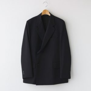 AURALEE | オーラリー [ LIGHT WOOL MAX GABARDINE DOUBLE JACKET #DARK NAVY [A21SJ01MG] ]