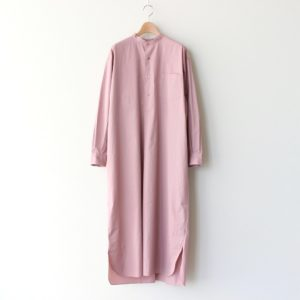 LENO | リノ [ BAND COLLAR PULLOVER DRESS #PINK [L2101-DR002] ]