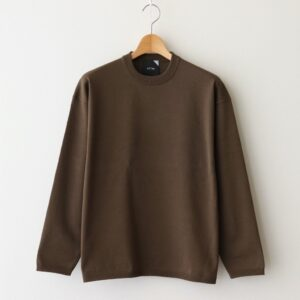 ATON | エイトン [ ORGANIC COTTON NATURAL DYE OVERSIZED SWEATER #CAMEL [KRAGIM0102] ]