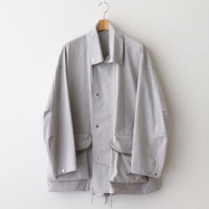 AURALEE | オーラリー [ WASHED FINX RIPSTOP CHAMBRAY BIG FIELD BLOUSON #LIGHT GRAY CHAMBRAY [A21SB01FL] ]