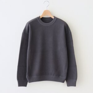 crepuscule | クレプスキュール [ MOSS STITCH L/S SWEAT #BLUE×BROWN [2101-001W] ]