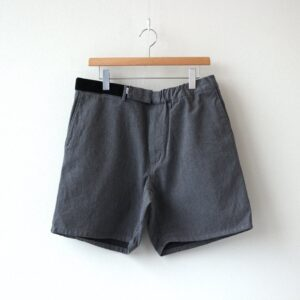 Graphpaper | グラフペーパー [ COLORFAST DENIM WIDE CHEF SHORTS #GRAY [GM211-40116B] ]