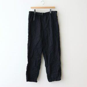 Graphpaper | グラフペーパー [ WRINKLED BAKER PANTS #BLACK [GM211-40088] ]