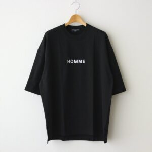 COMME des GARCONS HOMME | コム デ ギャルソン オム [ 綿度詰天竺 製品プリント Tシャツ #BLACK×WHITE [HG-T023-051] ]