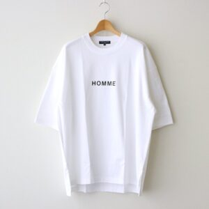 COMME des GARCONS HOMME | コム デ ギャルソン オム [ 綿度詰天竺 製品プリント Tシャツ #WHITE×BLACK [HG-T023-051] ]